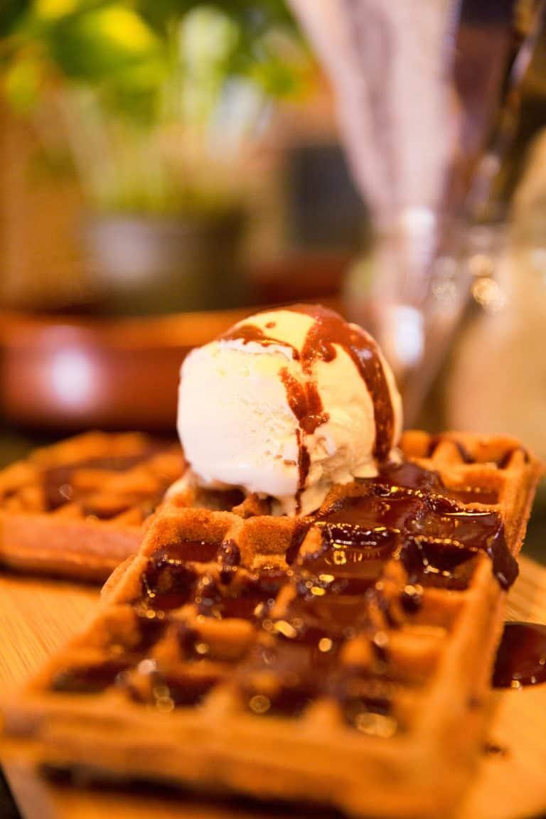 Vegan and gluten free waffle